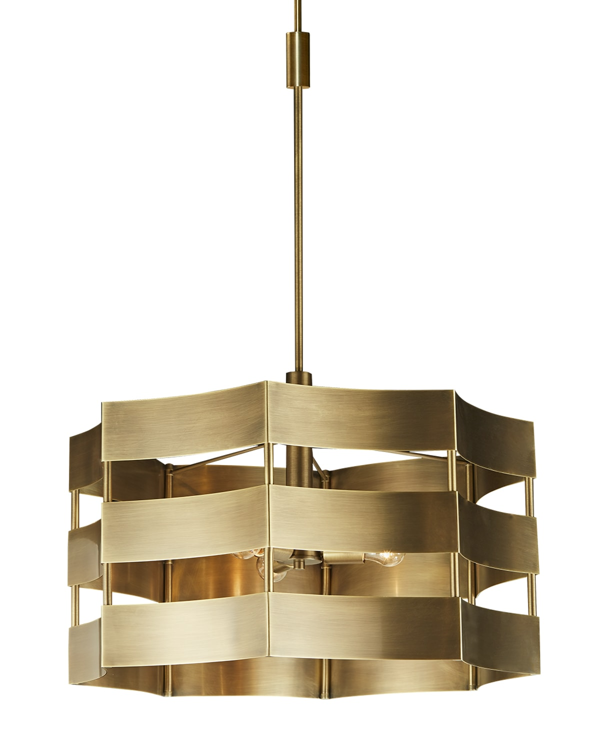 FlowDecor Corsica Chandelier in metal with antique brass finish (# 6045)
