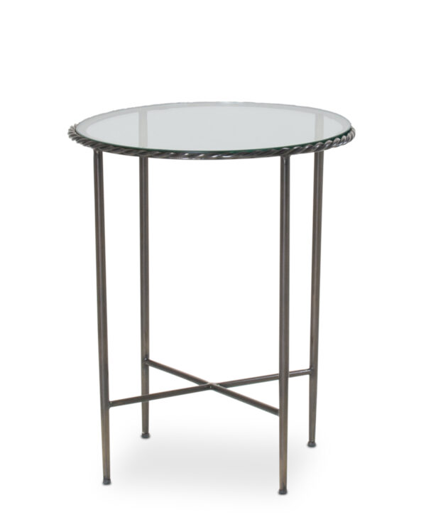 FlowDecor Ellis Side Table in iron with bronze finish (# 7008)