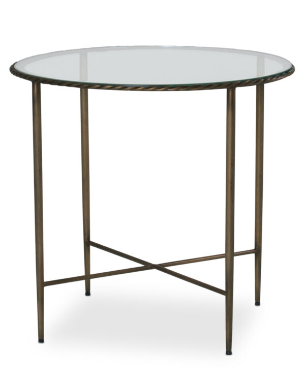 FlowDecor Hayes Side Table in iron with bronze finish (# 7007)