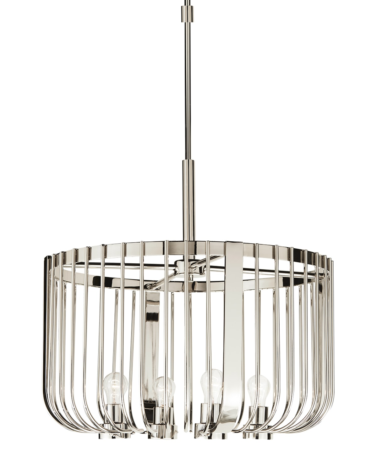 FlowDecor Norfolk Chandelier in polished stainless steel (# 6040)